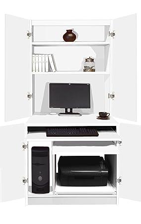Groovy B Hid In Wh White Computer Workstation Desk Hideaway Home Download Free Architecture Designs Ferenbritishbridgeorg