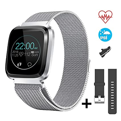 CatShin Smart Watch Fitness Tracker Watch with Heart Rate Monitor-CS08 Waterproof IP68 Pedometer SMS Camera Music Control Sleep Monitor for ...