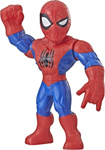 "Playskool Heroes Marvel Super Hero Adventures Mega Mighties Spider-Man Collectible 10"" Action Figure, Toys for Kids Ages 3 & Up"