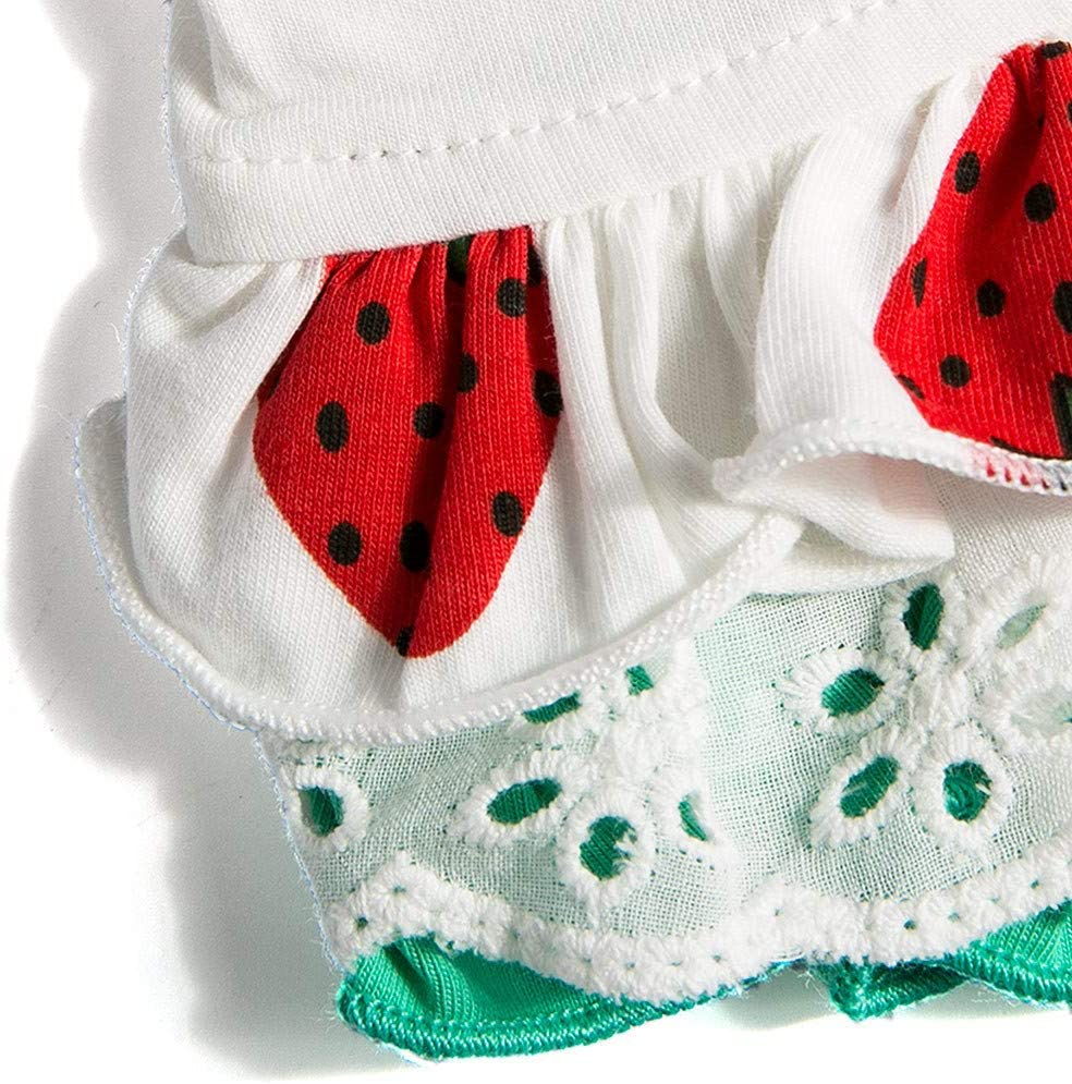 Voberry Pet Dog Summer Clothes Dress Printing Cute Strawberry Pet Vest Clothing Dress