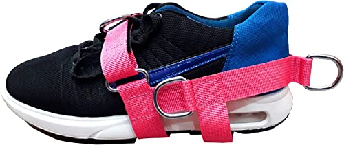 foot strap New 5-D Pink Women Ankle 5 -Ring Cable Gym Machine Attachment for Men Women Yoga, Pilates, Leg Foot Ankle Training Fitness Strap Sold Single Ideal for Donkey Kickbacks