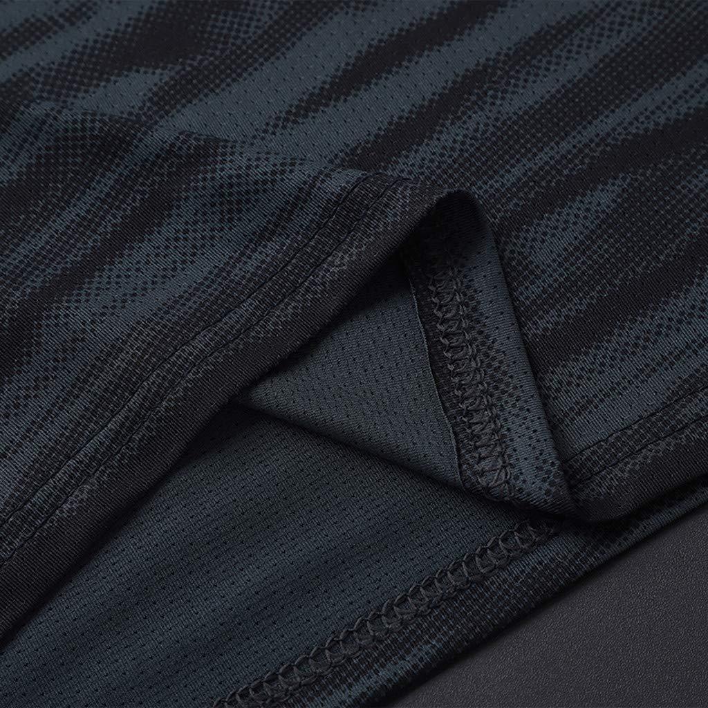 ManlinG7* Magliette Manica da Uomo Corta T-Shirt Estiva Sportivo Tops Sportivo Traspirante a Rapida Asciugatura Maglietta Abbigliamento Uomo di Grandi Dimensioni
