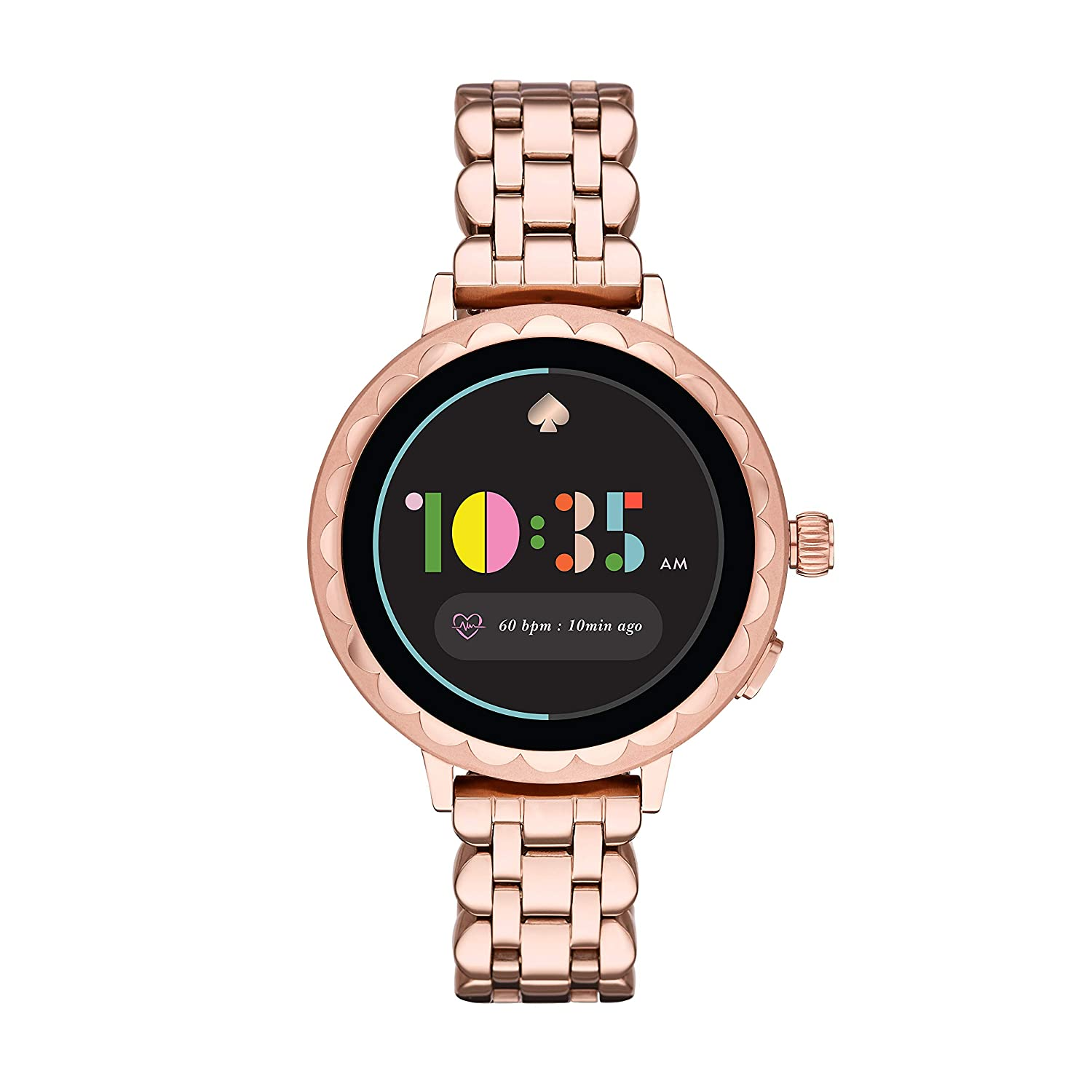 Kate Spade New York Women's Scallop 2 Stainless Steel Touchscreen smartwatch Watch with Bracelet Strap, Rose Gold, 16 (Model: KST2010
