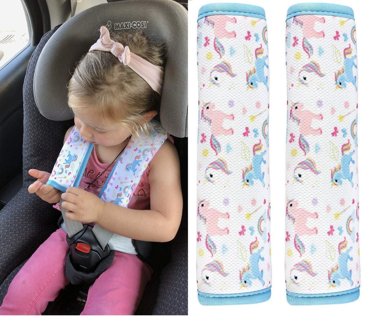 Car Child Safety Seat Belt Cover Shoulder Pad Strap Padding Cushion Protection