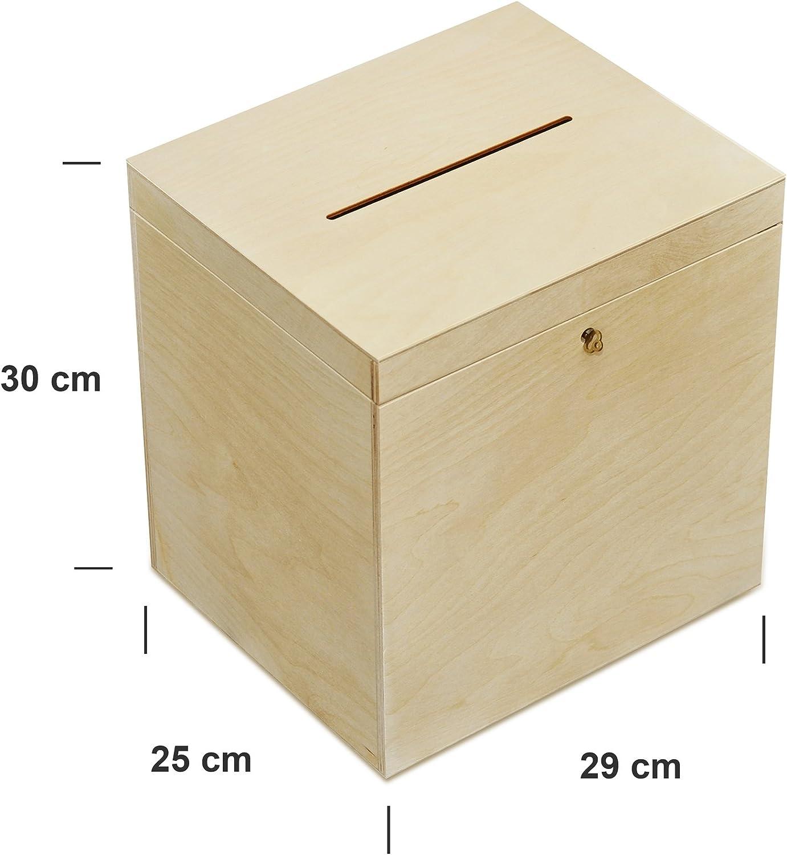 DIY Hochzeit Glückwunschkartenbox Holz Geschenkkartenbox Briefbox 30x 23x 21,5cm