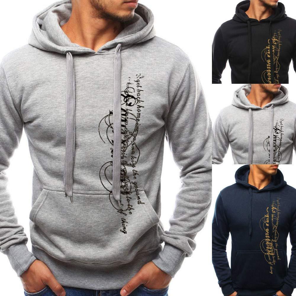 iLXHD Athletic Hoodies Jumper Pullover Pocket Letter Print Sweatshirts Lover
