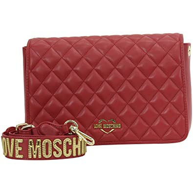 d62e0a6f1149 Amazon.com  LOVE Moschino Women s Fashion Quilted Rectangle Bag Red One Size   Shoes