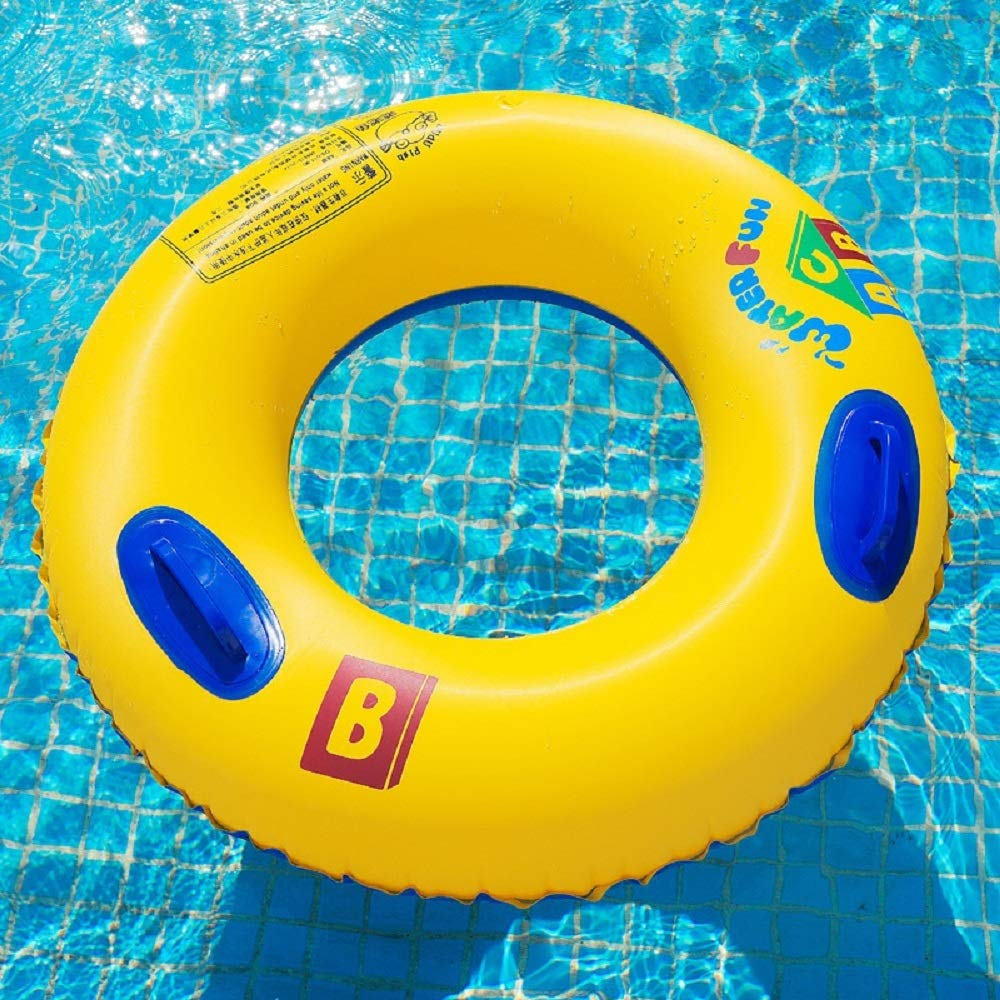 Adult Life Buoy, Swim Circle, Inflatable Summer Swim Ring, Water Toy for Beach Party. PVC Printing,80#90#100# (Size : 100#with Handle) by Cass (Image #1)