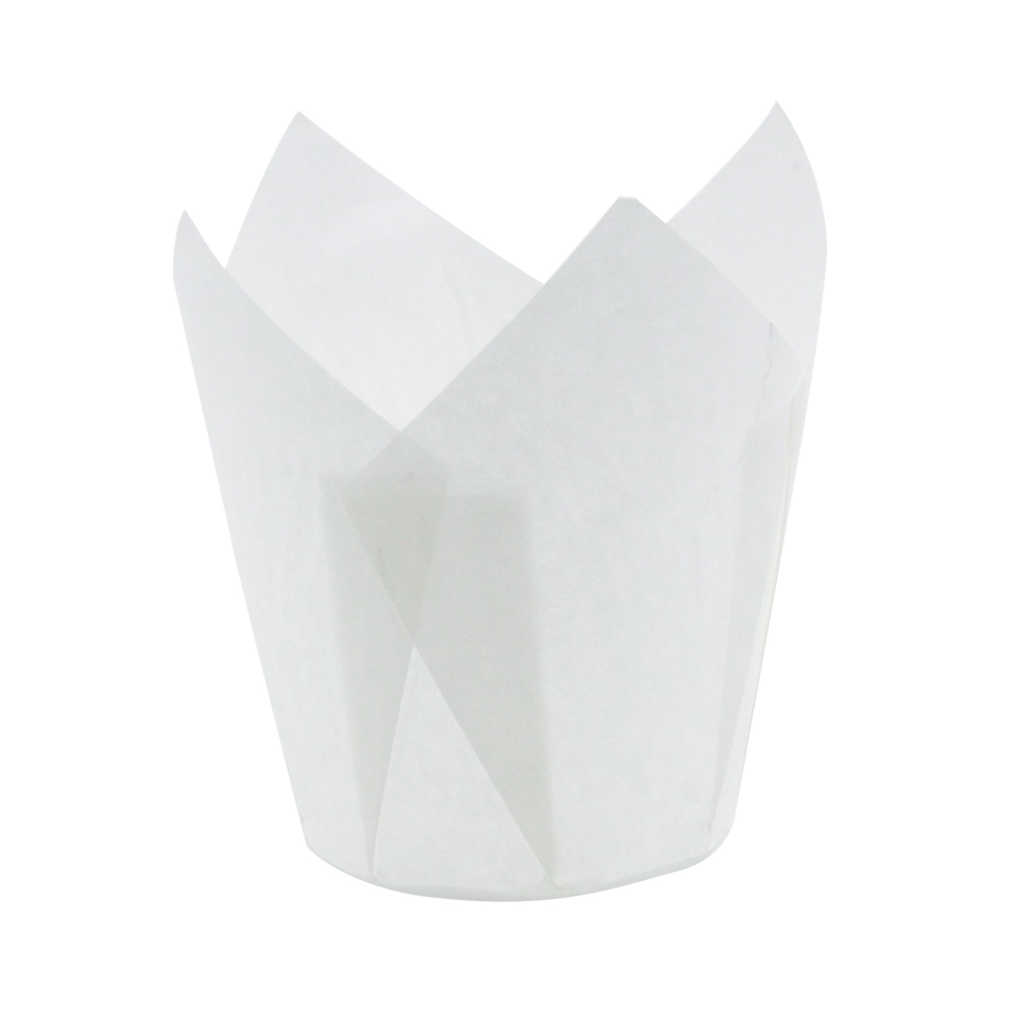 Ecobake White Tulip Baking Cups, Extra Large, Pack of 2000 - Style 717550