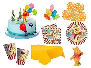 XXL Party Deko Set mit Torten Deko 1.Geburtstag Winnie Pooh ...