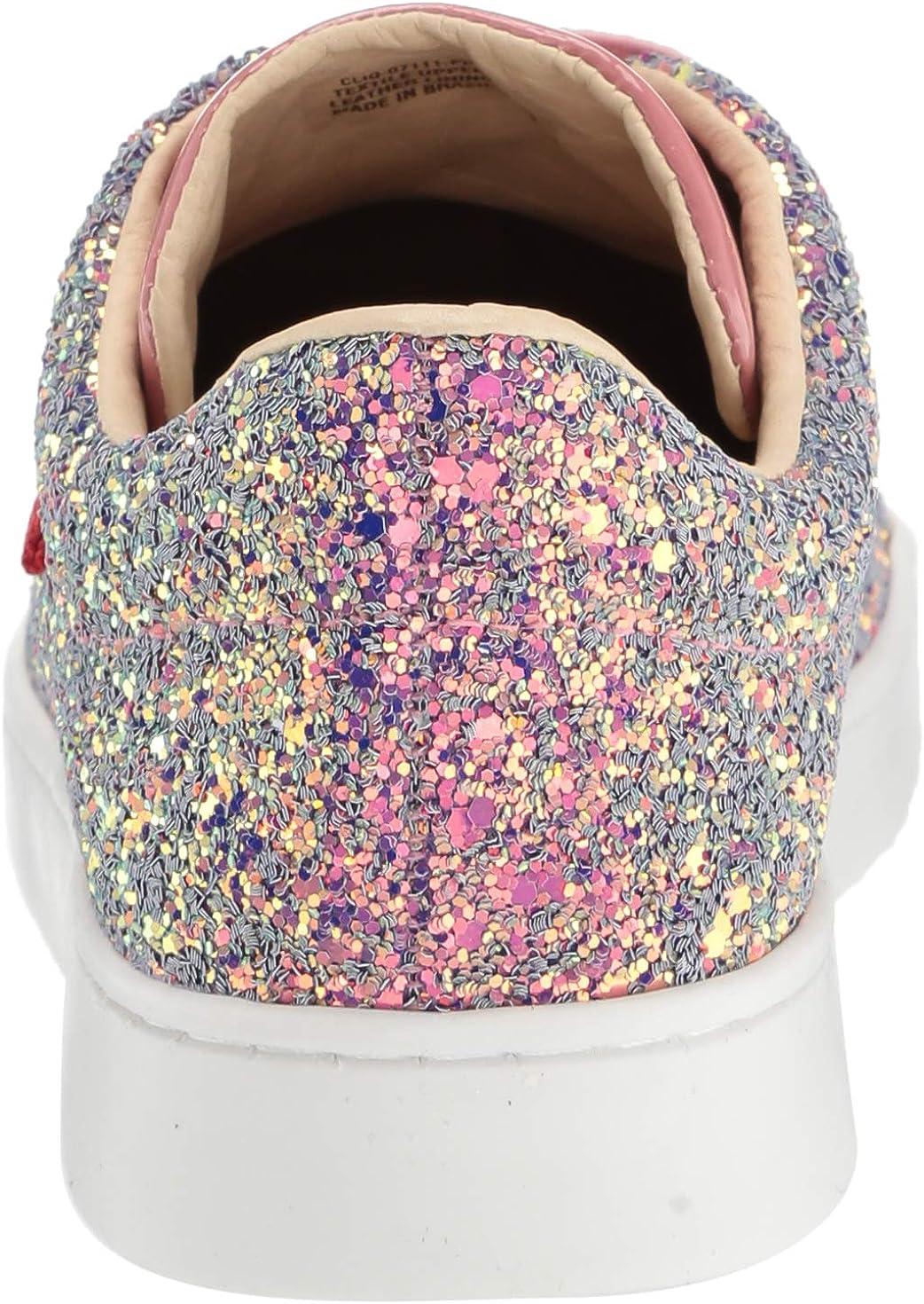 MARC JOSEPH NEW YORK Kids Boys//Girls Leather Made in Brazil Glitter Sneaker
