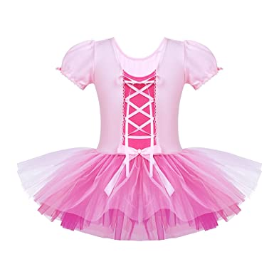 iiniim Vestido con Lazada Ballet Danza Niña Tutú Princesa ...