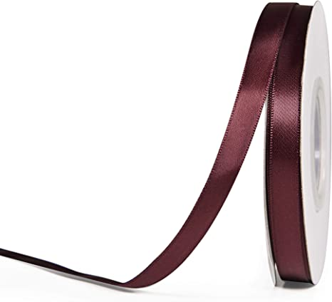 Burgundy  Satin Ribbon 3//8 inch  2 yards