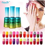Fairy Glo (Pick Any 3 Colors ) Gel Nail Polish UV LED Thermal Temperature Changing Colour Soak Off Maniure Decor Nail Lacquer Art Kit Hotsale 12ml