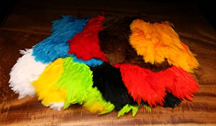 GRIZZLY SOFT HACKLE natural and dyed colors fly tying