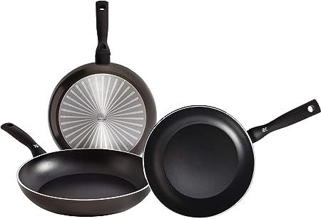 WMF Permadur Element Set de 3 sartenes de acero inoxidable de 20, 24 y 28 cm, con antiadherente para todo tipo de cocinas incluido inducción, Aluminio Fundido: Amazon.es: Hogar