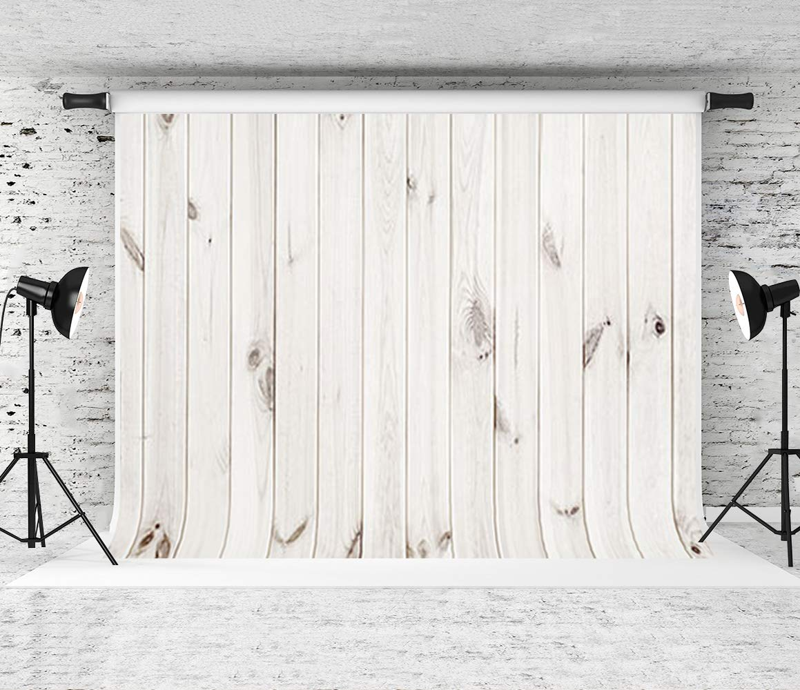 Kate 10x10ft Wood Backdrop for Photography White Wood Photo Background by Kate