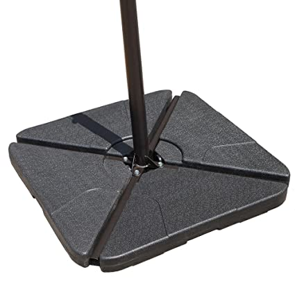 Attrayant COBANA Offset Patio Umbrella Base Sand Filled Set Pack Of 4 Square