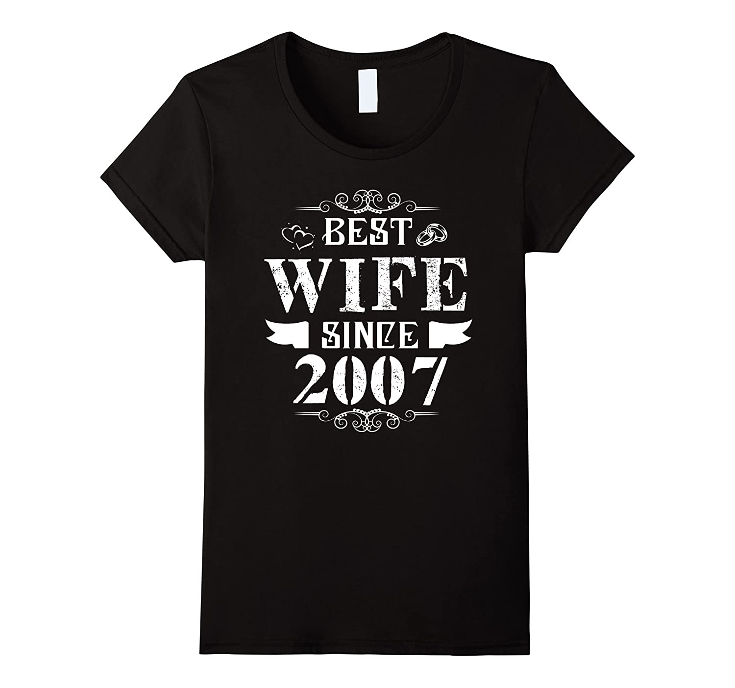 Womens Best Wife Since 2007 – 10 Years Wedding Anniversary Gift-Awarplus