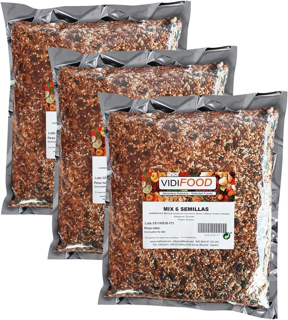 Mezcla de Semillas - 1kg - Deliciosa semilla de lino, semillas de ...