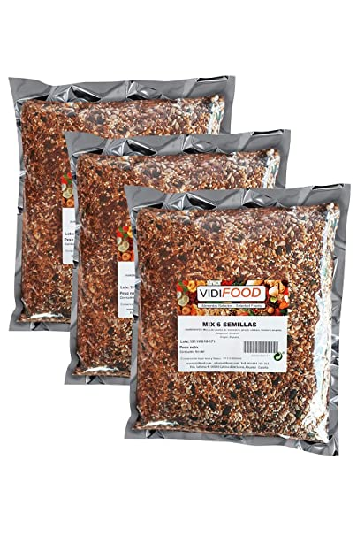 Mezcla de Semillas - 3kg - Deliciosa semilla de lino, semillas de ...
