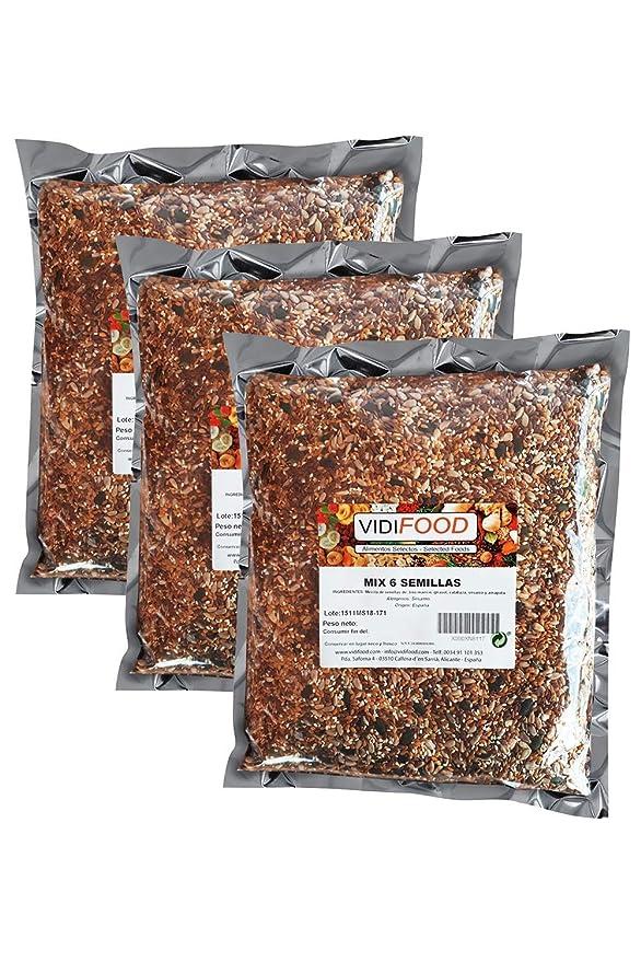 Mezcla de Semillas - 3kg - Deliciosa semilla de lino, semillas de girasol, semillas de sésamo, semillas de calabaza y mezcla de semillas de amapola - ...