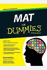 MAT For Dummies Paperback