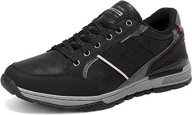 45 EU, A9099-Marr/ón AX BOXING Zapatillas Hombres Deporte Running Sneakers Zapatos para Correr Gimnasio Deportivas Padel Transpirables Casual