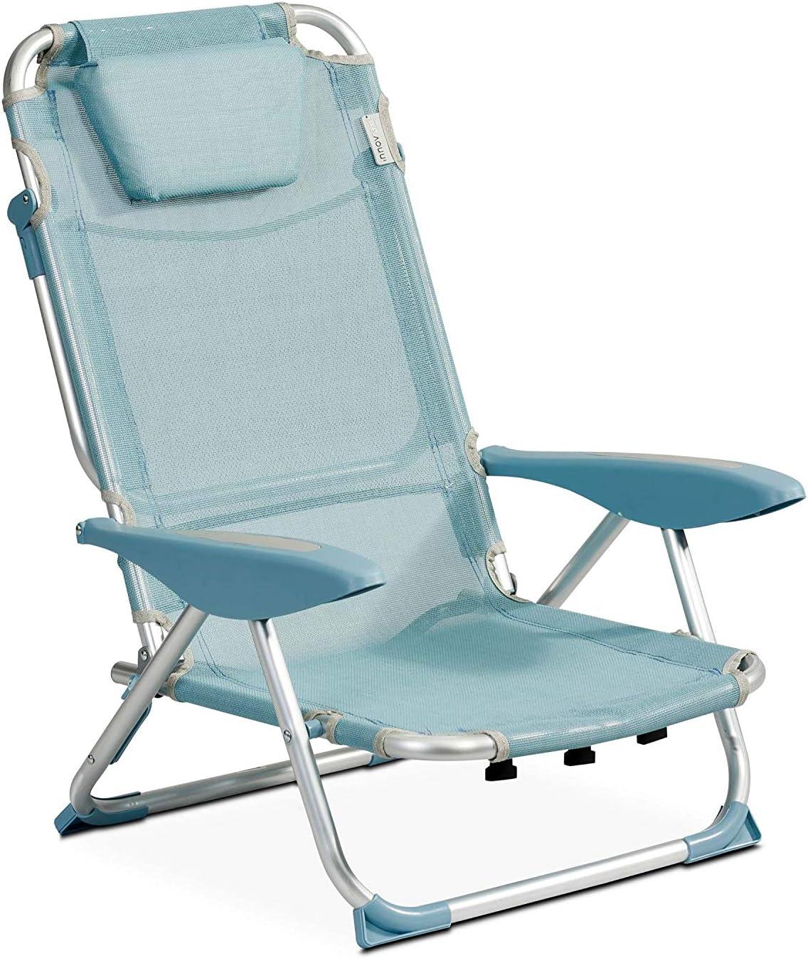 Innov'Axe - Sillón de Cama de Playa, Bleu Denim