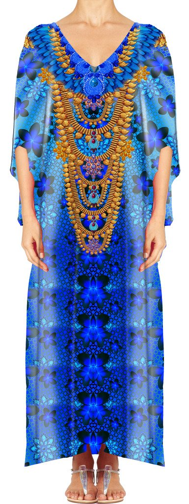 Women's Turkish Kaftan Beachwear Swimwear Bikini Cover ups Beach Dresses DG23-1 by D G PRINTS FAB