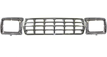 Partslink Number FO1200111 OE Replacement Ford Grille Assembly