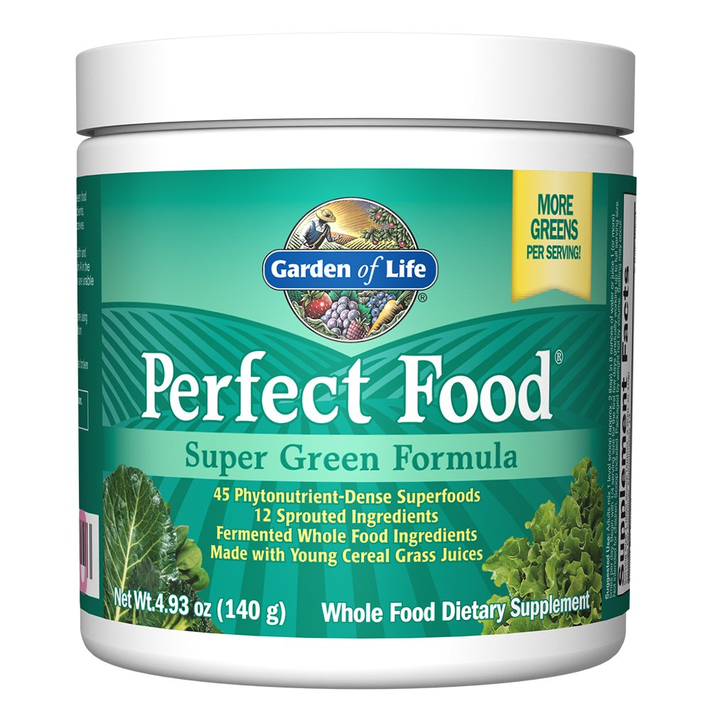 Garden of Life Whole Food Vegetable Supplement - Perfect Food Green Superfood Dietary Powder, 4.93 Ounce
