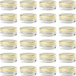 Small Mini Glass Jars With Tin Lids - 24 pack x 0.5 oz – All Purpose Empty Storage Jars