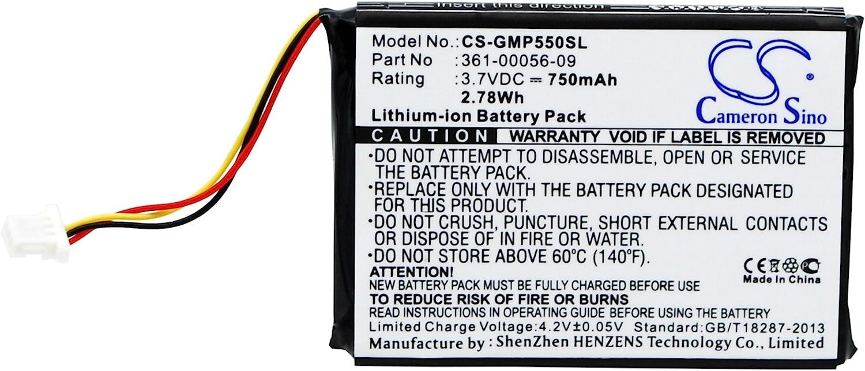 750mAh // 2.78Wh Li-ion Pro 550 Receiver Replacement Battery for Garmin Pro 550 Dog Training 361-00056-09 Pro 550 Trashbreaker fits Garmin 361-00056-07
