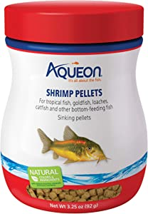 Aqueon 06188 Shrimp Pellets Fish Food, 3-1/4-Ounce