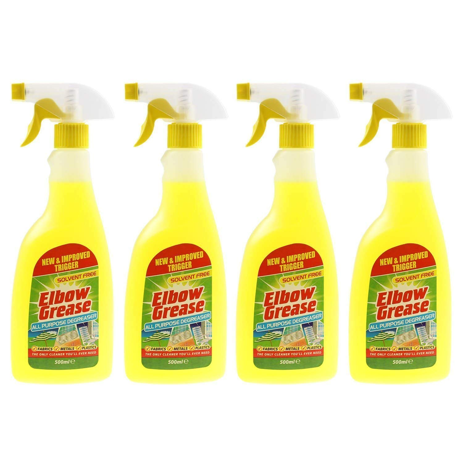 4 X Elbow Greese 500ml All Purpose De-Greaser