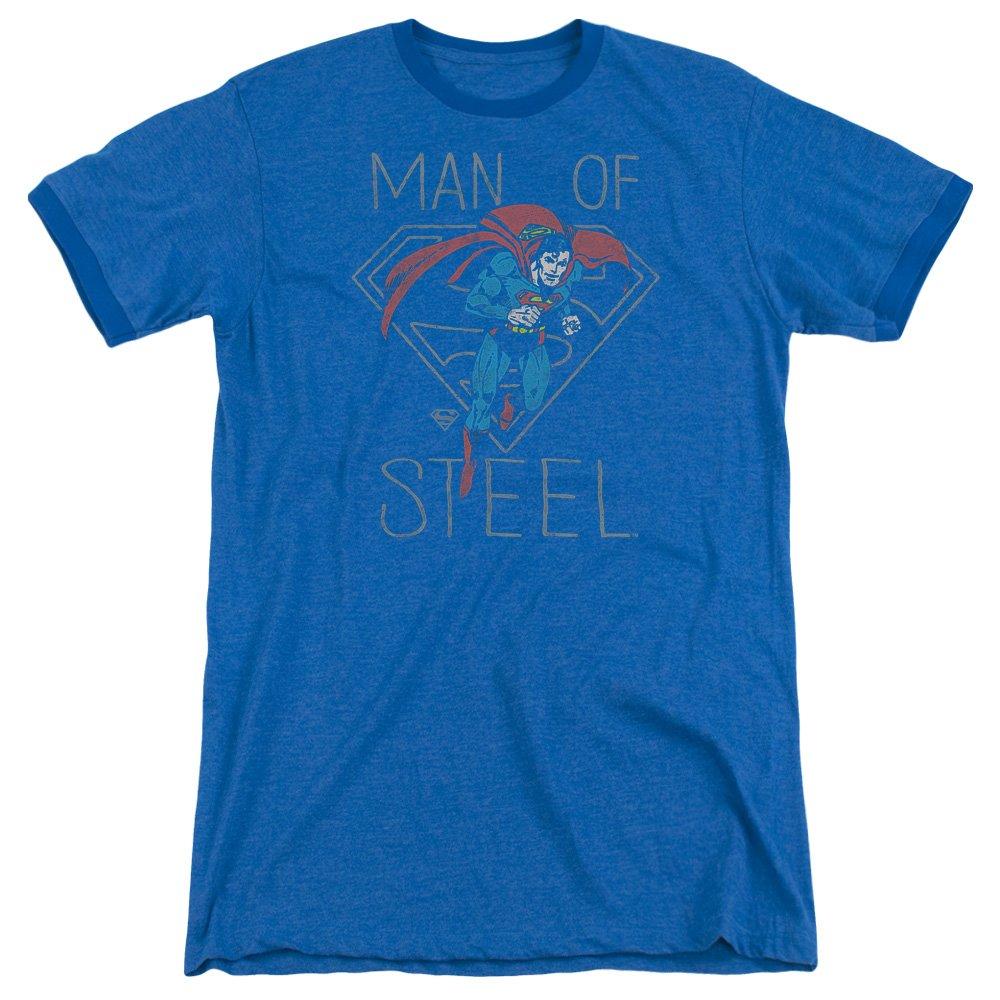 DC Comics Mens Hardened Heart Ringer T-Shirt