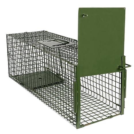 Yaheetech Trampa para Animales Trampa Jaula para Zorro Conejo 4 Tamaño S:80 x 25
