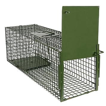 Yaheetech Trampa para Animales Trampa Jaula para Zorro Conejo 4 Tamaño S:80 x 25 x 27 cm