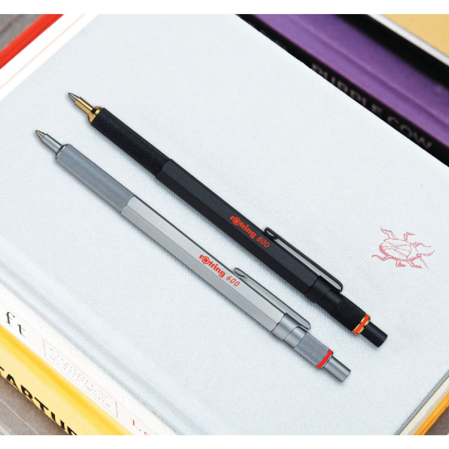 rOtring 800 Retractable Ballpoint Pen, Medium Point, Silver by Rotring (Image #6)