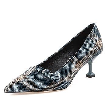 Kphy Zapatos De Mujersolo Zapatos Otoño De Proa Paño Para Colorear