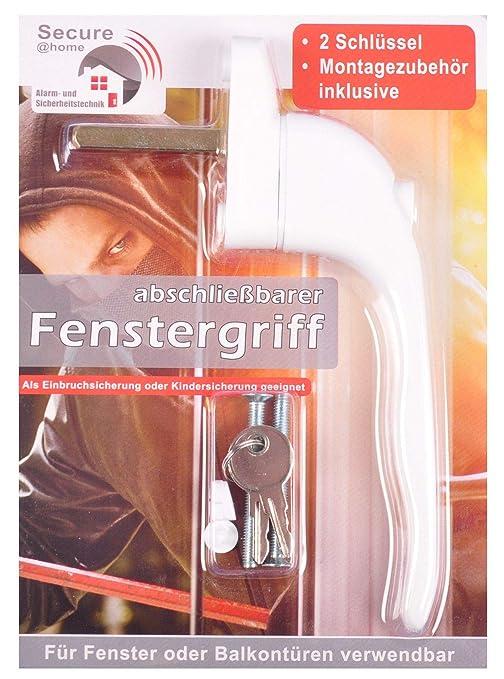 Secure@home 12er-Set Fenstergriffe abschlie/ßbar Sicherheitsfenstergriff Kindersicherung wei/ß