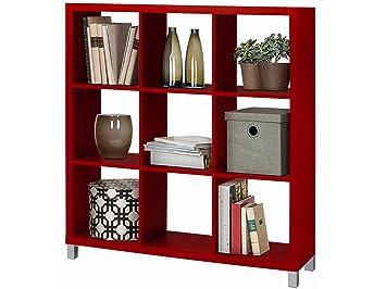 Regal, Bücherregale, Raumteiler KNOX aus FSC Holzwerkstoff mit 4, 6 ...