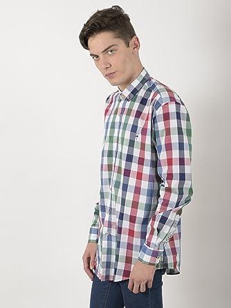 EL FLAMENCO Camisa Caballero Cuadro Vichy Grande Color, Verde, 4 para Hombre: Amazon.es: Ropa y accesorios