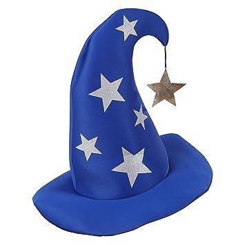 nuovo di zecca marchi riconosciuti scarpe originali Cappello da mago blu con stelle