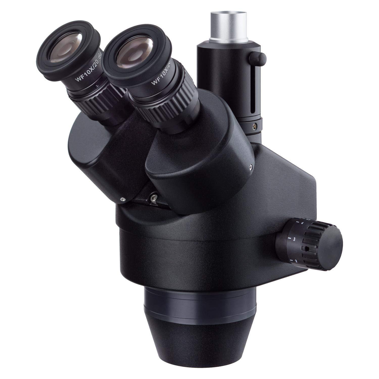 AmScope SM745T 7X-45X Trinocular Zoom Power Stereo Microscope Head