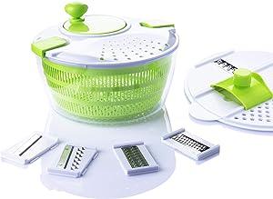 7 in 1 Multifunction Kitchen Gadget set 4L Salad Spinner Vegetable Dryer Grater Slicer