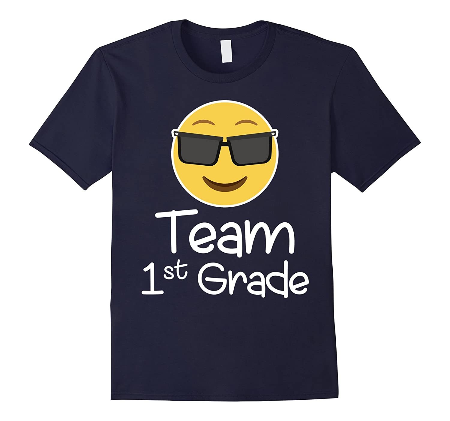 Emoji Team first Grade Teacher T-Shirt for lover COOL FUNNY-ANZ