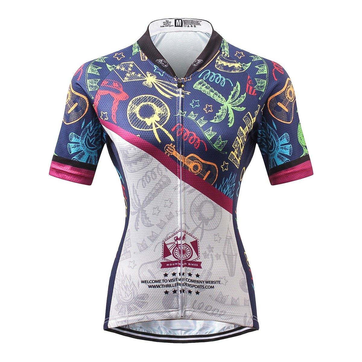 Thriller Riderスポーツレディース夏アウトドアスポーツマウンテンバイク半袖サイクリングジャージー B0755WX631 2X-Large = Chest 43.5''|ジャージ ジャージ 2X-Large = Chest 43.5''