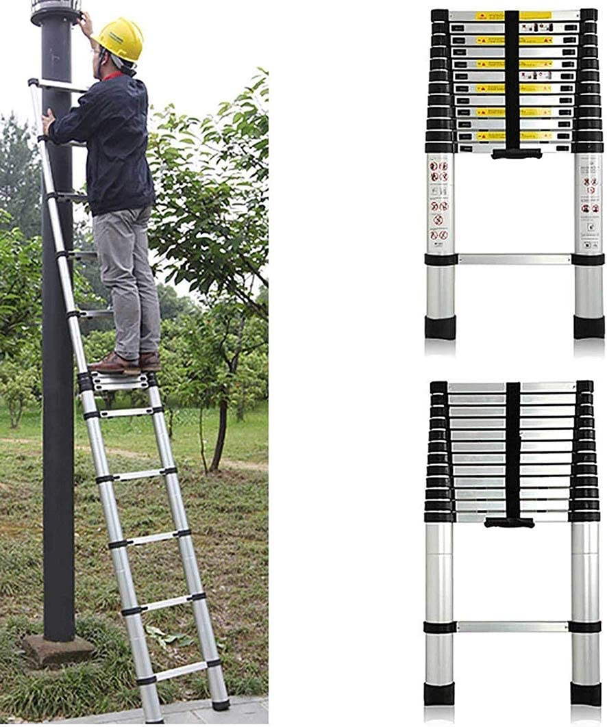 Tipo I Escalera Telescópica Escaleras Plegables Aluminio escaleras telescópicas - Extensible desaceleración telescópica Escalera con sistema de retracción con un solo botón (Size : 1.4M/4.5ft): Amazon.es: Bricolaje y herramientas